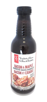 President's Choice, Bacon & Maple BBQ Sauce, 500ml/16.9oz, (Imported from Canada)