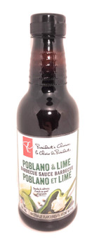 President's Choice, Poblano & Lime Barbecue Sauce, 500ml/16.9oz., {Imported from Canada}