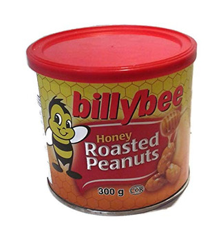 Billy Bee Honey Roasted Gourmet Peanuts, 300g/10.6oz, {Imported from Canada}