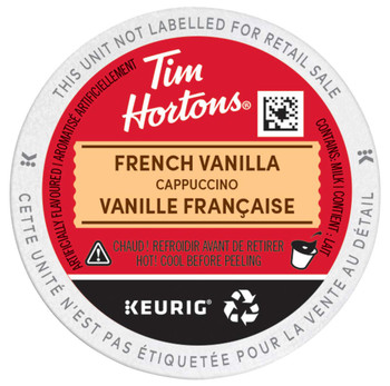 Tim Horton's Cappuccino French Vanilla k-cups, 148g/ 10 Count {Imported from Canada}