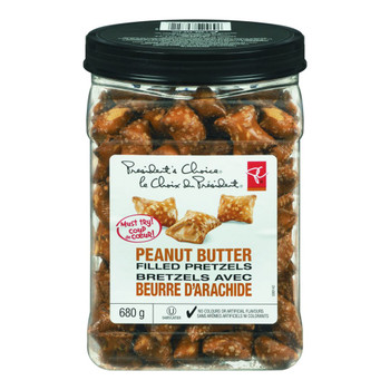 President's Choice Peanut Butter Filled Pretzels, 680g/1.5lbs, {Imported from Canada}