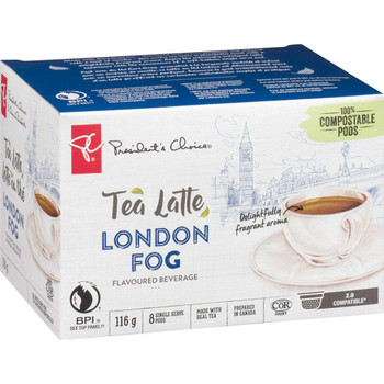 President's Choice, Tea Latte, London Fog Flavoured Beverage, Keurig, 8ct {Imported from Canada}