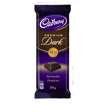 Cadbury Premium Dark Chocolate Bar, 100g/3.5oz, (Imported from Canada)