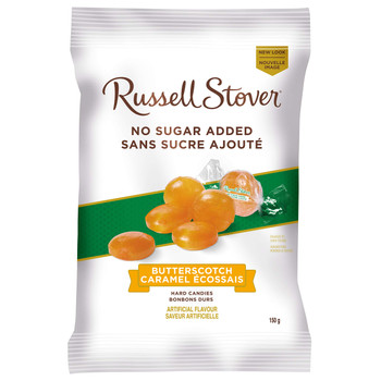 Russell Stover, Butterscotch No Sugar Added Hard Candies, Bag, 150g/5.3oz., {Imported from Canada}