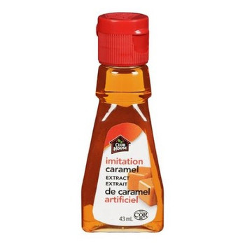 Club House Imitation Caramel Extract, 43ml/1.5oz.,{Imported from Canada}