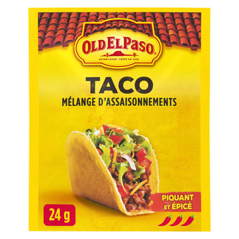 Old El Paso Hot and Spicy Taco Seasoning Mix, 24g/1oz., {Imported from Canada}