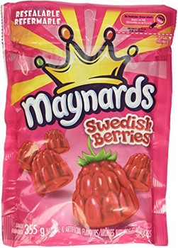 Maynards Swedish Berries, Gummy Candy, 355g/12.5oz., {Imported from Canada}