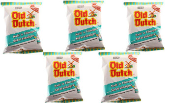 Old Dutch Potato Chips (5 Bags x 40g / 1.4oz) Bundle {Imported from Canada} (Salt & Vinegar)