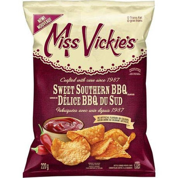 Miss Vickies Kettle Cooked Sweet Southern BBQ Potato Chips, 220g/7.8oz., {Imported from Canada}