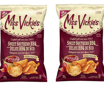 Miss Vickies Kettle Cooked Sweet Southern BBQ Chips (2pk), {Imported from Canada}