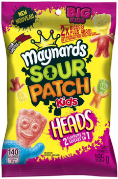Maynards Sour Patch Kids Heads Candy, 185g/6.5oz., {Imported from Canada}