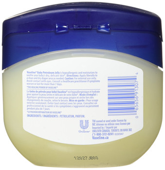 Vaseline Baby Petroleum Jelly 375g/13.2oz., {Imported from Canada}