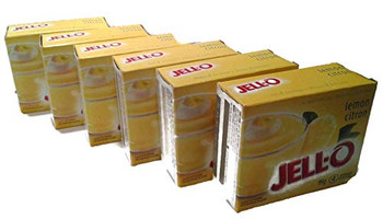 Jello Lemon Instant Pudding Mix, 99g/3.5oz., X 6 PKG.{Imported from Canada}