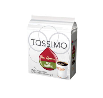Tassimo Tim Horton's Decaf Coffee, 14 T-Discs {Imported from Canada}
