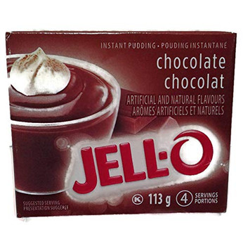Jello Chocolate Instant Pudding - 113g/4oz., X 6 PKG, {Imported from Canada}
