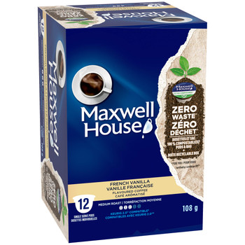 Maxwell House, French Vanilla Coffee, Keurig K-Cup Pods, 12 Pods, {Imported from Canada}