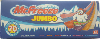 Mr. Freeze Jumbo Ice Pops, 150ml/5oz., 70 Pack, {Imported from Canada}