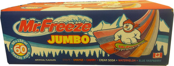 Mr. Freeze Jumbo Ice Pops, 150ml/5oz., 60 Pack, {Imported from Canada}