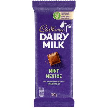 Cadbury Dairy Milk Mint Chocolate Bar, 100g/3.5oz., {Imported from Canada}