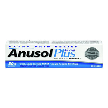 Anusol Plus Hemorrhoidal Ointment Treatment 30g/1.1oz. {Imported from Canada}