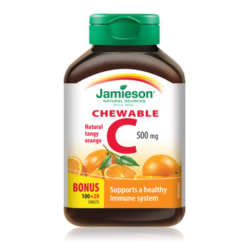 Jamieson Vitamin C Orange 500mg 120 Tablets, {Imported from Canada}