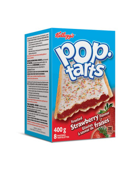 Kellogg's Pop Tarts Toaster Pastries, Frosted Strawberry 8ct, 400g/14.1oz., {Imported from Canada}