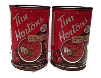 Tim Hortons HOMESTYLE Chili, (2pk) 425g/14.4 fl. oz., TINS {Imported from Canada}