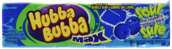 Hubba Bubba Max Sour Blue Raspberry (Pack of 18) {Imported from Canada}