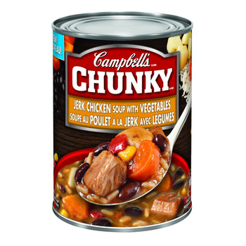 Campbell's Chunky Jerk Chicken Soup with Vegetables 540ml/18.25oz, (Imported from Canada)