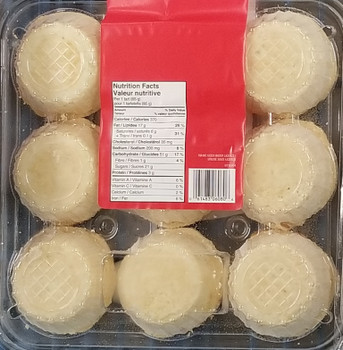 Old Mill Butter Tarts 765g/27oz., 9ct., {Imported from Canada}