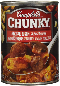 Campbell's Chunky Meatball Bustin' Sausage Rigatoni, 540ml/18.3 oz., {Imported from Canada}