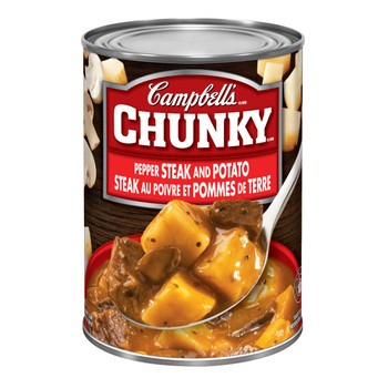 Campbell's Chunky Pepper Steak and Potato Soup, 540 mL (Imported from Canada)