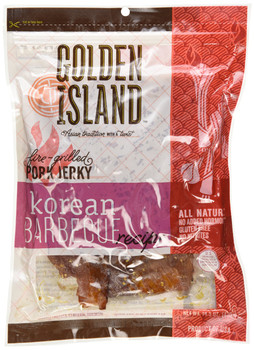 Golden Island Korean All Natural Barbecue Pork Jerky, 410g/14.5oz, {Imported from Canada}