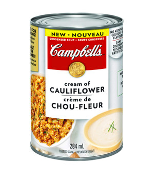 Campbell's Cream of Cauliflower Condensed Soup, 284ml/9.6oz., {Imported from Canada}