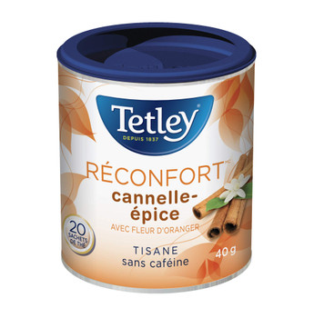 Tetley Tea Warmth (Cinnamon Spice) Herbal Tea, 20 Count, {Imported from Canada}