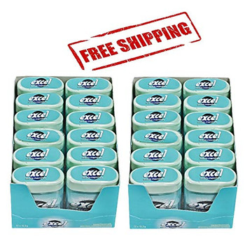 Excel Mints, Fresh Mint, 12gm, 12 Count (2 Pack), {Imported from Canada}