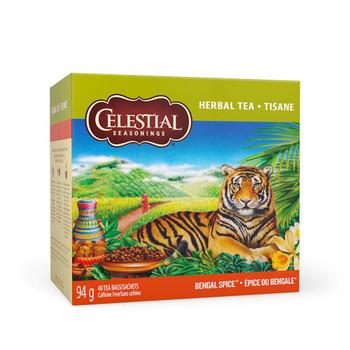 Celestial Seasonings Bengal Spice Herbal Tea, 40 Tea Bags per box, 1 box, {Imported from Canada}