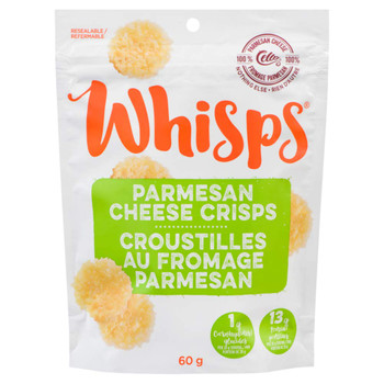 Whisps Parmesan Cheese Crisps,  60g/2.1oz., Bag, {Imported from Canada}