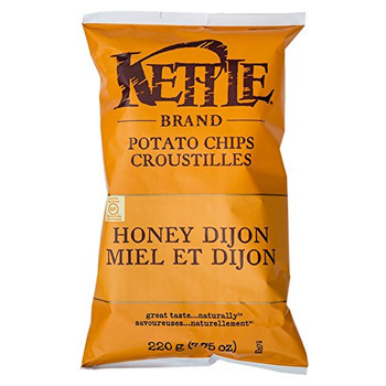 Kettle Potato Chips, Honey Dijon,  220g/7.8oz., {Imported from Canada}