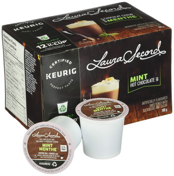 Laura Secord Mint Hot Chocolate Mix for Keurig K-cup, 12 pods, 180g {Imported from Canada}