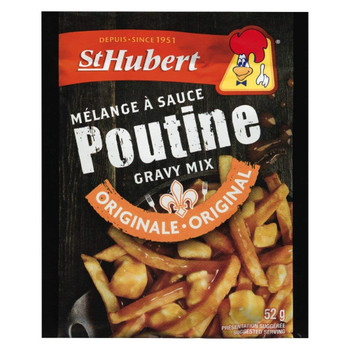 St Hubert, Poutine Gravy Mix, Classic Sauce, Original Recipe 52g/1.8 oz. (48ct), {Imported from Canada}