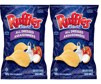 Ruffles All Dressed Potato Chips, 220g/7.8oz (2-Pack) {Imported from Canada}
