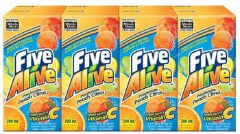 Five Alive Peach Citrus Juice Box (8ct), 200ml/6.7 fl. oz., {Imported from Canada}