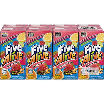 Five Alive Berry Citrus, Juice Box (8ct), 200ml/6.7 fl. oz., {Imported from Canada}