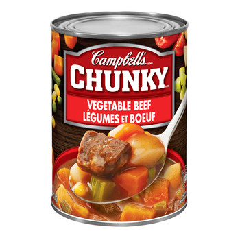 Campbell's Chunky Vegetable Beef Soup, 540ml/18.3 oz. (Imported from Canada)