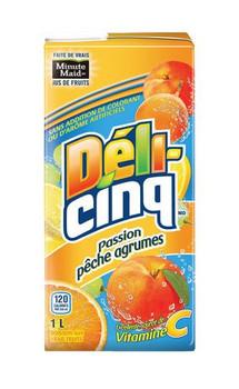 Five Alive Passionate Peach Citrus, 1 Litre/33.8 fl. oz., Juice Box, {Imported from Canada}