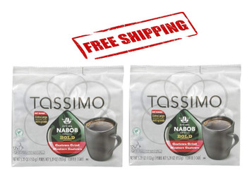 Tassimo Nabob Bold Gastown Grind Coffee, 12 T-Discs (2 Pack), {Imported from Canada}
