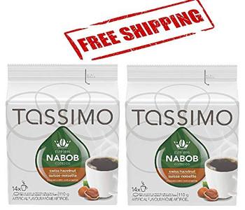 Tassimo Nabob Swiss Hazelnut Coffee, 14 T-Discs (2 Pack), {Imported from Canada}