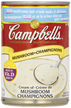 Campbell's Cream of Mushroom Soup, 284 ml/9.6oz, 12 pack {Canadian}