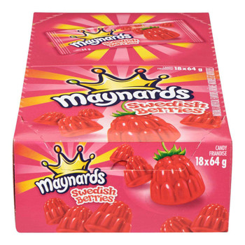Maynards Swedish Berries Gummy Candy, 64g/2.2oz., 18 Pack {Imported from Canada}